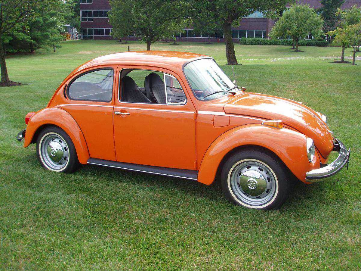 orange 1973 VW Super Beetle for Sale