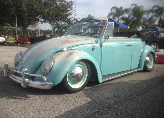 1965 Beetle Pacific Blue Convertible