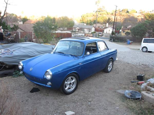 1963 vw notchback rare factory sunroof