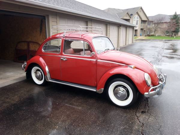 For Sale 1966 volkswagen beetle ruby red
