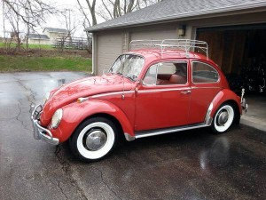1966 volkswagen beetle ruby red