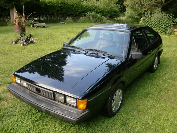 1987 Black VW Scirocco