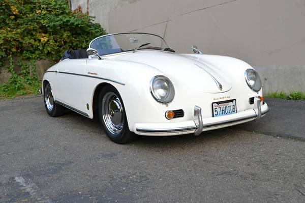 White 1957 Porsche 356 Speedster
