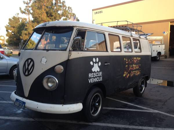 1967 vw bus 11 window walk-through