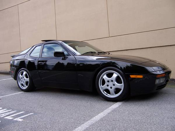 black 1986 porsche 944 turbo buy classic volks. Black Bedroom Furniture Sets. Home Design Ideas
