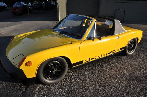 1976 Porsche 914 yellow for sale