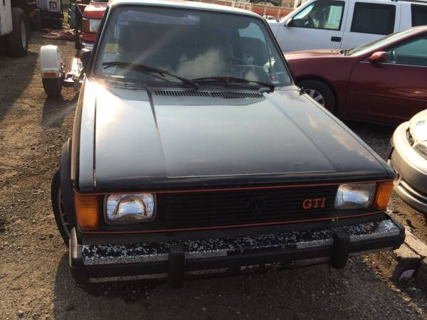 1983 vw rabbit GTI for sale