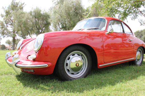1964 Porsche 356 C Red Coupe