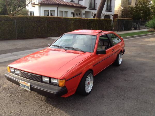 1986 Volkswagen Scirocco Red Coupe