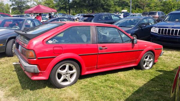 1988 vw red scirocco 16v