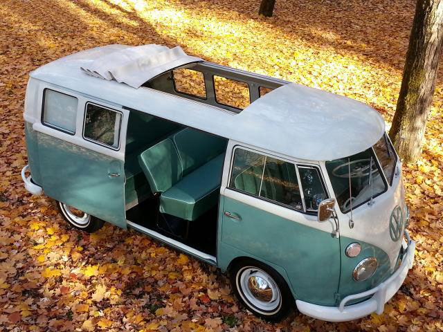 Rare Microbus, 1964 Volkswagen Type 2 Kombi With Sliding Door
