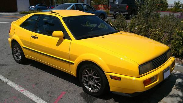 Yellow Corrado G60 Supercharged 1990