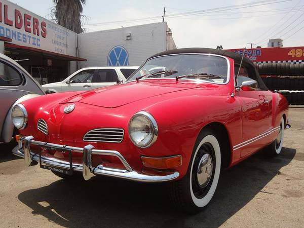 Red Convertible Volkswagen Karman Ghia 1971
