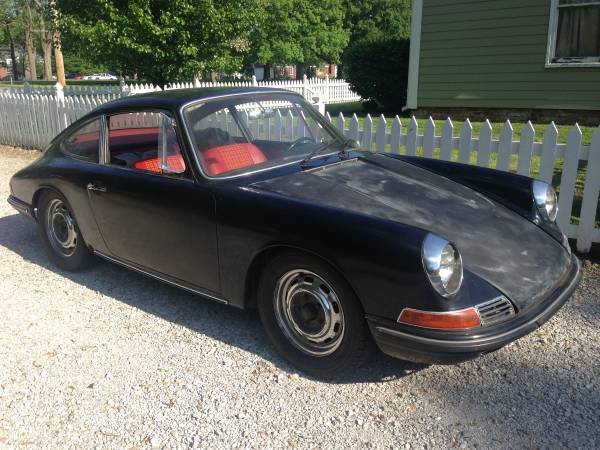 1966 Porsche 912 Black For Sale