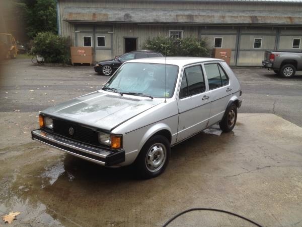 1984 vw rabbit 4 door diesel hatchback buy classic volks. Black Bedroom Furniture Sets. Home Design Ideas