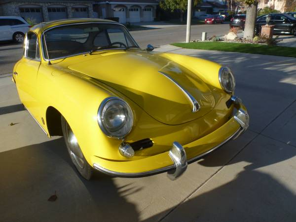 1963 Porsche 356B Yellow Coupe